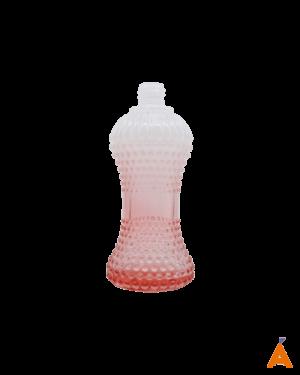 Frasco de Vidro Cintura Degradê Branco e Vermelho - 100 ml